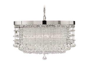 Uttermost Fascination 3 light Chandelier Chrome 21138