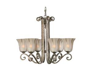 Uttermost Lyon 6 Light Chandelier Silver 21146