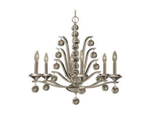 Uttermost Kane 6 Light Chandelier Polished Nickel 21174