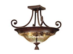 Uttermost Elba 2-Light Semi Flush Mount Patina