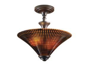 Uttermost  Alexander  2 Light Semi Flush Mount  Brown