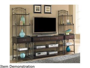 Home Styles Bordeaux 5052-34 Transitional 3PC Entertainment Center Espresso Finish