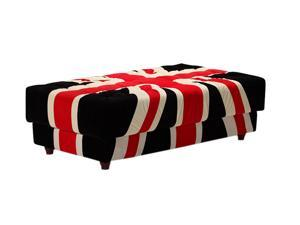 Zuo Modern 900265 Union Jack Ottoman Red, White & Black