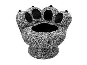 LumiSource CHR-PAW SNLP Paw Chair Snow Leopard Black/White
