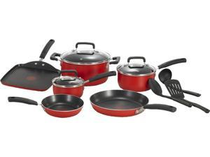 T-Fal  C112SC75 Signature Total Non-Stick 12-Piece Cookware Set, Red