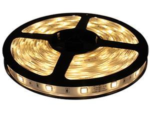HitLights Non-Waterproof Warm White SMD3528 LED Light Strip - 300 LEDs, 16.4 Ft Roll, Cut to length - 3000K, 72 Lumens per ...