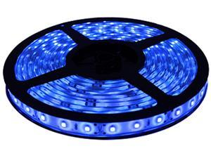 HitLights Non-Waterproof Blue SMD3528 LED Light Strip - 300 LEDs, 16.4 Ft Roll, Cut to length - 72 Lumens per foot, Requires ...