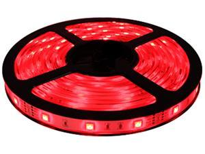 HitLights Non-Waterproof Red SMD3528 LED Light Strip - 300 LEDs, 16.4 Ft Roll, Cut to length - 72 Lumens per foot, Requires ...