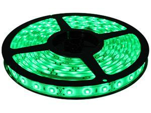 HitLights Non-Waterproof Green SMD3528 LED Light Strip - 300 LEDs, 16.4 Ft Roll, Cut to length - 72 Lumens per foot, Requires ...