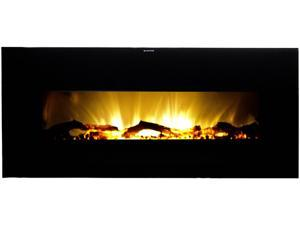 Frigidaire VWWF-10306 Valencia Widescreen Wall Hanging Electric Fireplace with Remote Control - Black