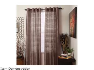 Lavish Home Set of 2 Maggie Grommet Curtain Panels - Chocolate