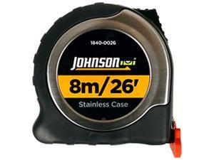 Johnson Level 1840-0026 8m/26' Metric/Inch Big J Magnetic Power Tape