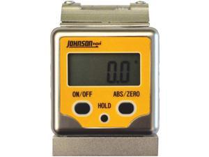 Johnson Level 1886-0400 Professional Magnetic Digital Angle Locator 3 Button with V-Groove and Level Vial