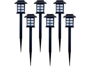 Pure Garden Outdoor Lantern Solar Landscaping Lights - Set of 6