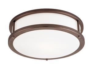 Access Lighting Conga Flush - 3 Light Bronze Finish w/ Opal Glass Bronze Flush Mounts
