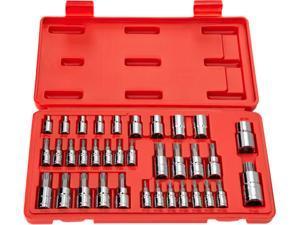 TEKTON 1354 35-pc. Star Drive Bit Socket Set (1/4, 3/8, 1/2 in. Drive)