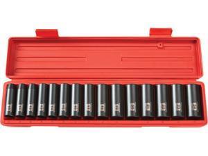 TEKTON  4883  1/2 in. Drive Deep Impact Socket Set (10-24mm) 6 pt. Cr-V