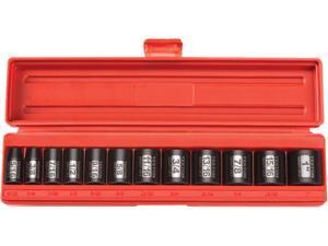 TEKTON 47910 3/8 in. Drive Shallow Impact Socket Set (5/16 in.-1 in.) 6 pt. Cr-V