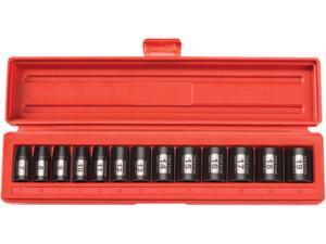 TEKTON 47915 3/8 in. Drive Shallow Impact Socket Set (7-19mm) 6 pt. Cr-V