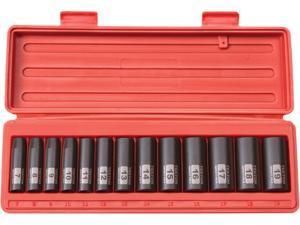 TEKTON 47926 3/8 in. Drive Deep Impact Socket Set (7-19mm) 12 pt. Cr-V