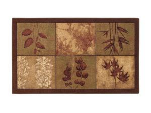 "Mohawk Home New Wave Leaf Array Rug Brown 30""X50"" 10486 426 030050"
