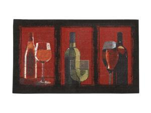 "Mohawk Home New Wave A Glass A Day Crimson Rug Red 30""X50"" 10487 407 030050"
