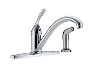 DELTA 400-DST Classic Single Handle Kitchen Faucet with Spray