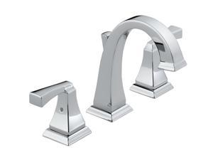 DELTA 3551LF Dryden Two Handle Widespread Lavatory Faucet – Chrome Finish