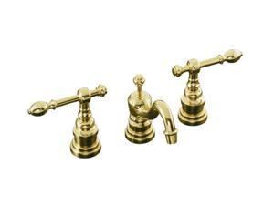 KOHLER K-6811-4-PB IV Georges Brass widespread lavatory faucet with lever handles