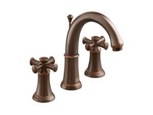 """American Standard 7420.821.224 12"""" Widespread Portsmouth Faucet w/ Cross Handle Oil Rubbed Bronze"""