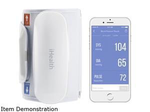 "iHealth BP5 White Wireless Blood Pressure Monitor - 8.6"" to 16.5"" Cuff Size"