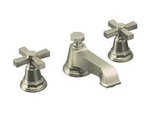 KOHLER K-13132-3A-BN Pinstripe Pure Widespread Lavatory Faucet