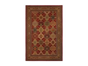 """Mohawk Home Vintage Luxe Vintage Luxe Raymond Waites Sir Charles Red Rug Black 94"""" x 63"""" x 0.433"""" 58039 58068 063094"""