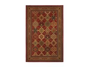 """Mohawk Home Vintage Luxe Vintage Luxe Raymond Waites Sir Charles Red Rug Black 120"""" x 96"""" x 0.433"""" 58039 58068 096132"""