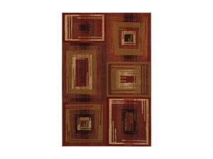 "Mohawk Home Pinnacle Pinnacle Vibrations Red Rug Brown 94"" x 63"" x 0.394"" 58800 58051 063094"