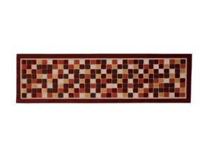 "Mohawk Home Terrace Terrace Squares Rug Brown 90"" x 25"" x 0.197"" 9765 37016 025090"