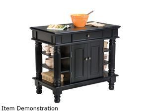 Home Styles 5092-94 Americana Black Kitchen Island