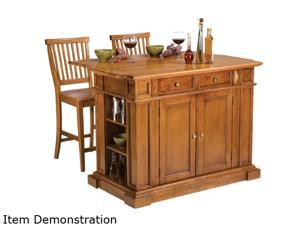 Home Styles 5004-948 Kitchen Island & Stools Distressed Oak