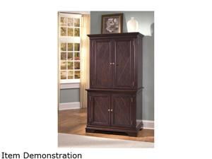 Home Styles 5541-190 Windsor Cherry Compact Computer Desk & Hutch
