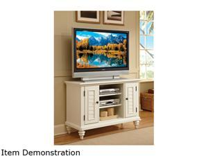 Home Styles Bermuda 5543-09 Traditional Brushed White TV Stand