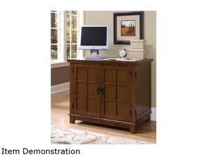 Home Styles 5180-19 Arts & Crafts Compact Desk Cottage Oak Finish