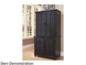 Home Styles 5181-190 Arts & Crafts Compact Desk & Hutch Black Finish