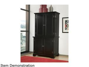 Home Styles 5531-190 Bedford Black Comapct Computer Desk & Hutch