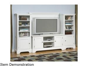 Home Styles Naples 5530-44 White 4PC Entertainment Center