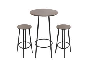 LumiSource Zella Bar Table Set Espresso - 2 bar stools and a bar table