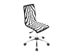 LumiSource Printed Zebra Computer Chair
