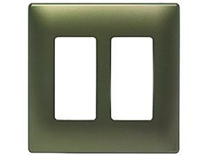 Legrand  SWP262ABBPCC10  Two-Gang Screwless Decorator Wall Plate, Antique Brass