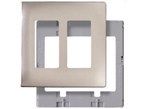 Legrand  SWP262NIBPCC10  2-Gang Nickel Finish Decorator Rocker Thermoplastic Wall Plate