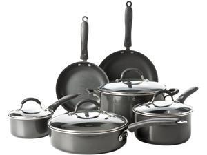Cuisinart Elements Pro Induction 10-Piece Non-Stick Cookware Set, Black