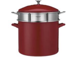 Cuisinart 3-Piece 20-Quart Stockpot/Steaming Set, Red